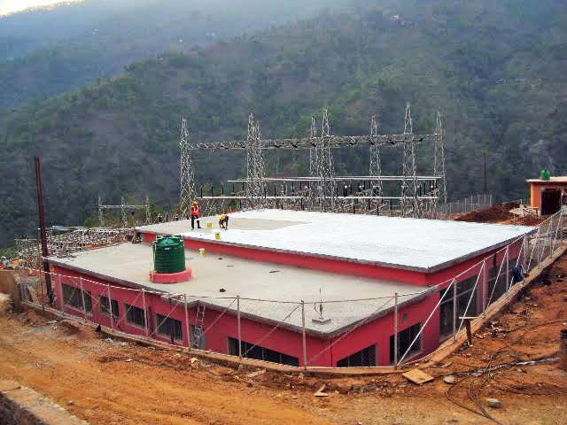 FILE - Under construction substation of Kabeli Corridor Transmission line in Thapatar, Phidim-5 of Panchthar district. Photo: Laxmi Gautam/THT