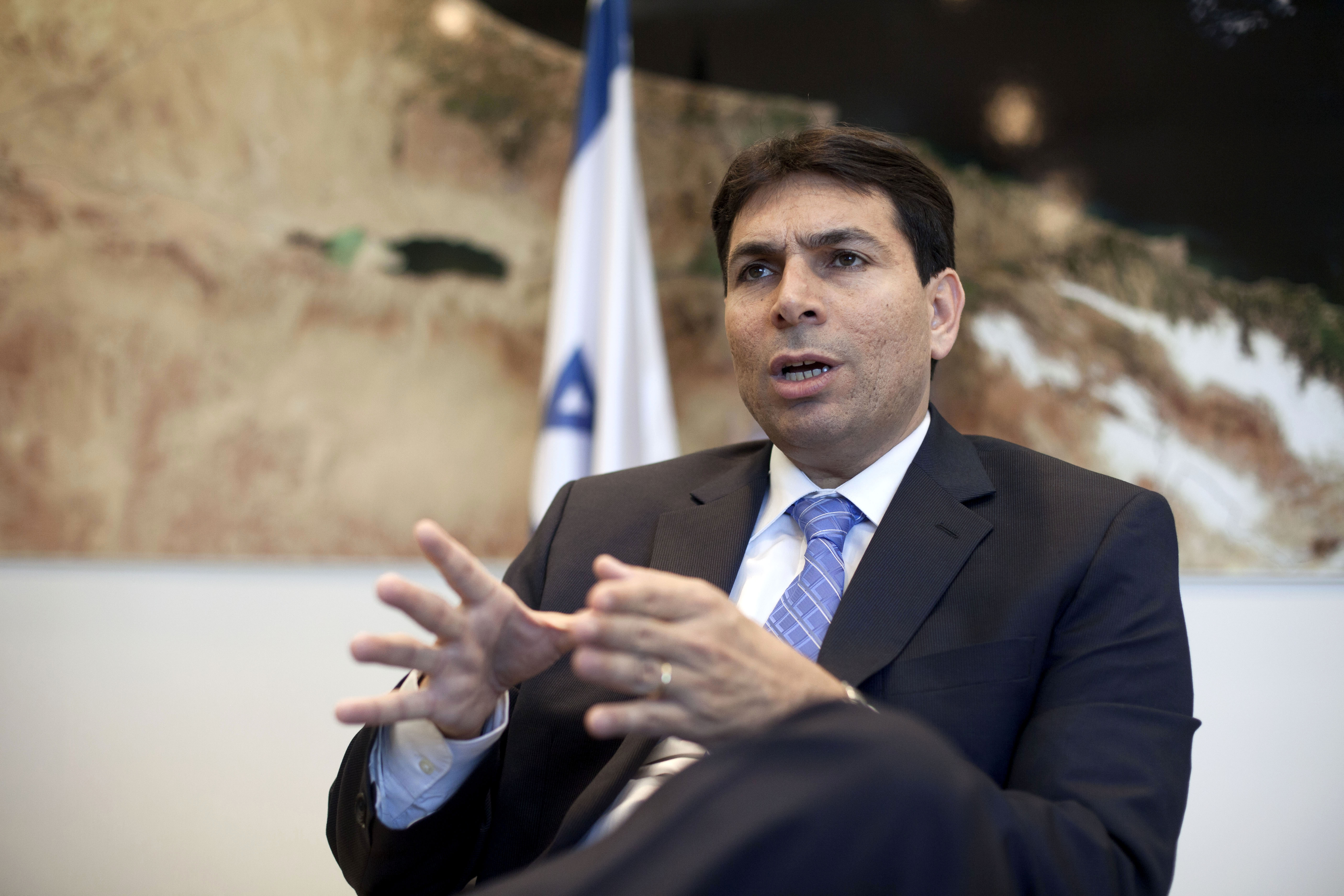In this Thursday, June 27, 2013 file photo, Israeli Deputy Minister of Defense Dani Danon speaks during an interview to the Associated Press in his office in Tel Aviv, Israel. Israeli Prime Minister Benjamin Netanyahu named on Friday, Aug. 14, 2015 Danon to the sensitive post of ambassador to the United Nations. Photo: AP