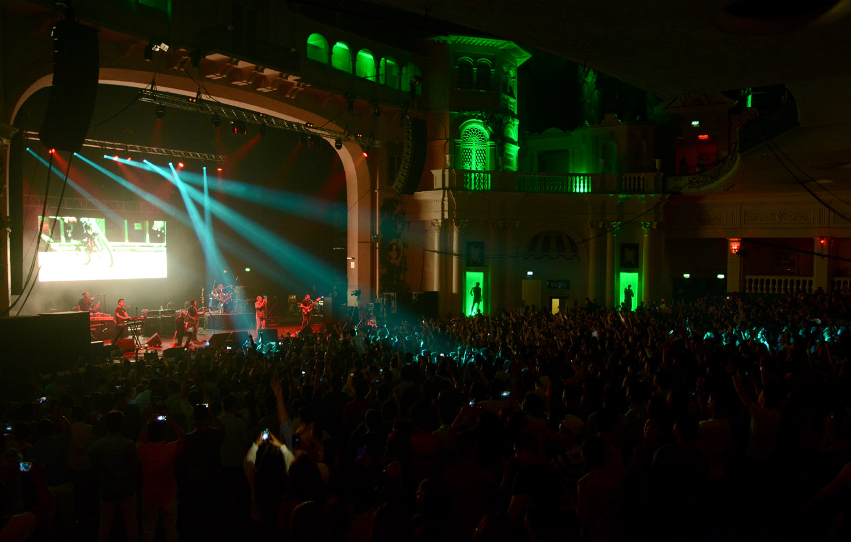 Nepathya performing at O2 Academy Brixton, London on Saturday.