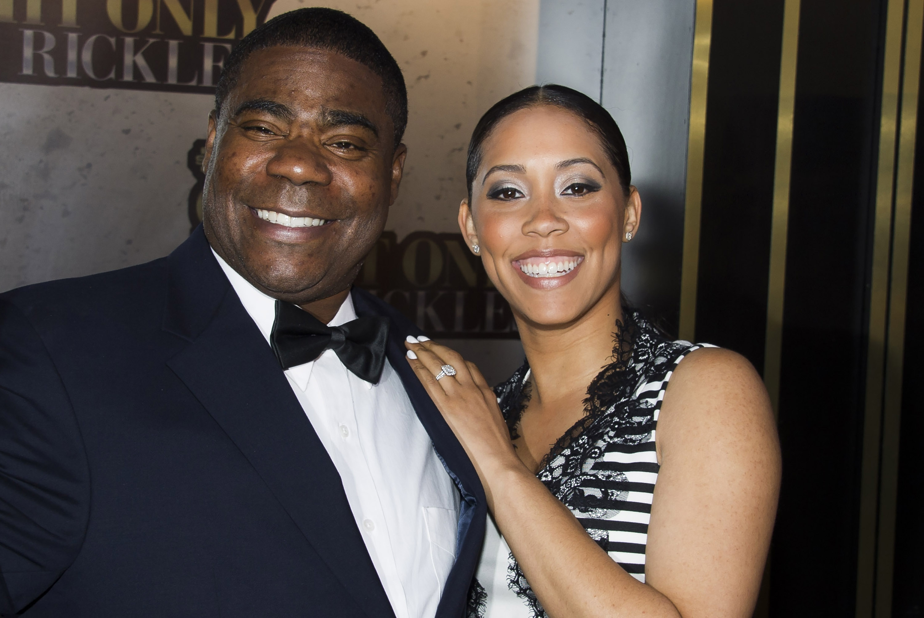 FILE - In this Tuesday, May 6, 2014, file photo, Tracy Morgan and Megan Wollover attend One Night Only: An All-Star Tribute To Don Rickles, in New York. Morgan married fiancee Wollover, Sunday, Aug. 23, 2015, according to Morgan's publicist, Lewis Key. Their 2-year-old daughter was in attendance. It is Morgan's second marriage. Photo: AP