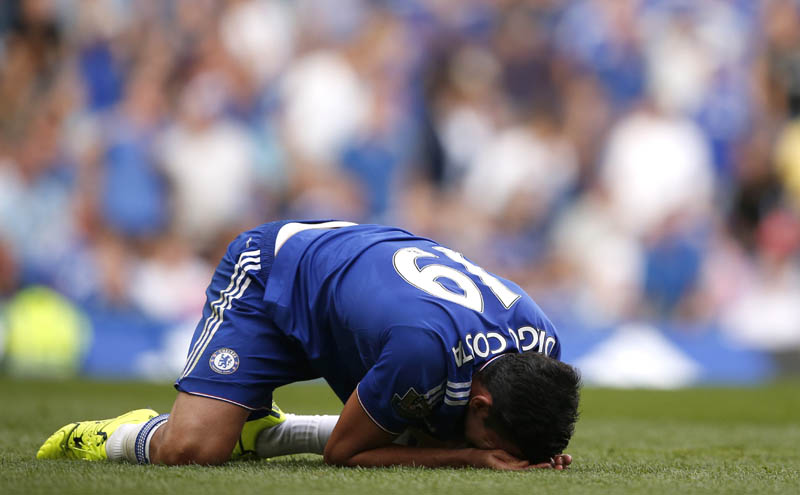 Chelsea's Diego Costa reacts.nAction Images via Reuters
