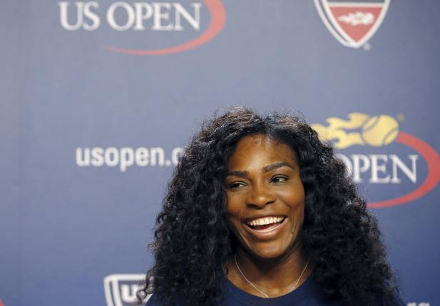 Serena Williams of the U.S. speaks during a news conference at the USTA Billie Jean King National Tennis Center ahead of the 2015 U.S. Open tennis tournament in New York, August 27, 2015. REUTERS/Mike Segar