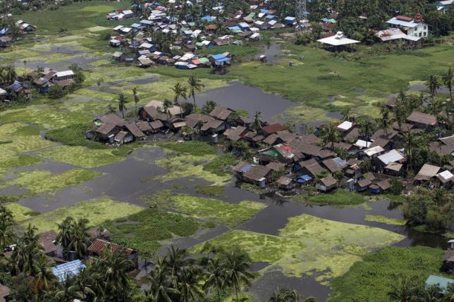 An aerial view of a part of Sittwe city at Sittwe, Rakhine state, Myanmar, August 5, 2015. Photo: Reuters