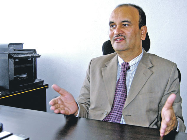 Som Lal Subedi, Secretary at the Ministry of Federal Affairs and Local Development. THT file