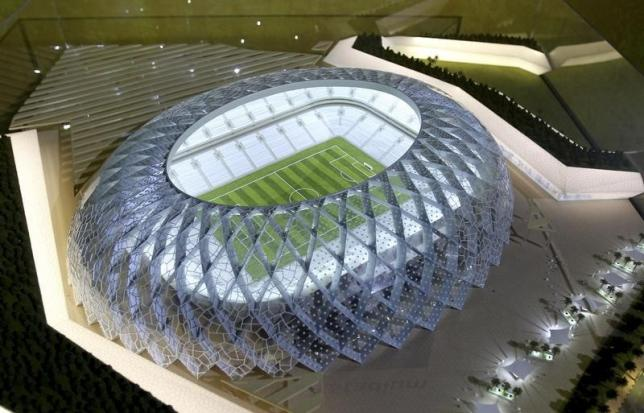 Qatar presents a model of its Al-Wakrah stadium as it bids to host the FIFA 2022 World Cup during the FIFA Inspection Tour for the country's bid, in Doha September 16, 2010.  REUTERS/Files