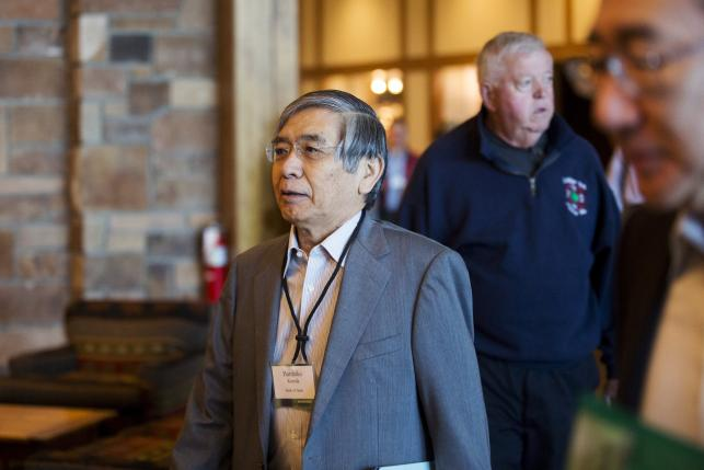 Haruhiko Kuroda, Governor of the Bank of Japan, attends the Federal Reserve Bank of Kansas City's annual Jackson Hole Economic Policy Symposium in Jackson Hole, Wyoming. Photo: Reuters