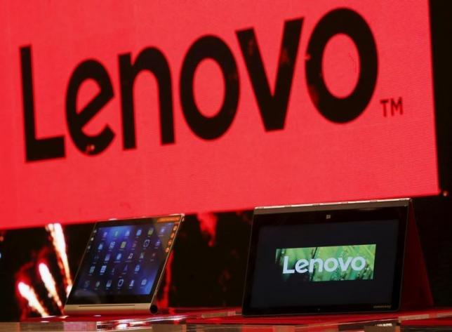 A Lenovo ultrabook and a tablet are displayed during a news conference in Hong Kong, China May 21, 2015. Photo: Reuters