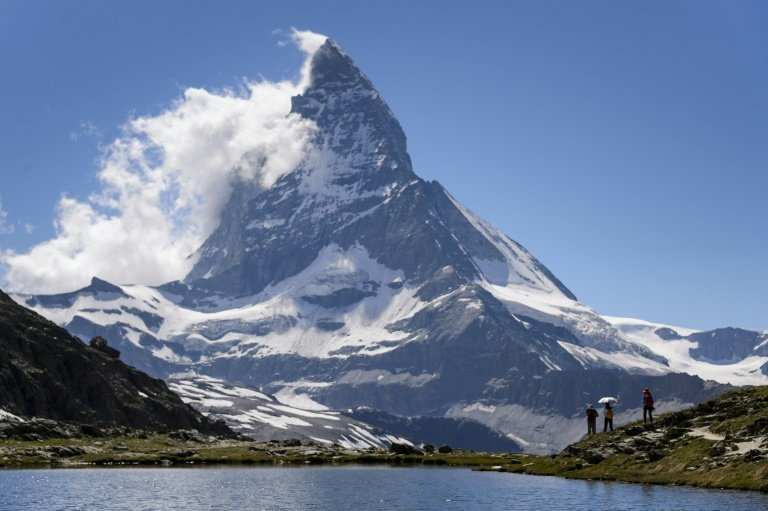 The body of a Japanese climber was found in the Swiss Alps but his climbing partner was still missing three days after the pair got into difficulty on the Matterhorn. Photo: AFP