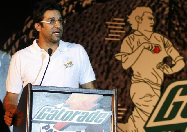 File- Wasim Akram, Pakistan's former cricket captain, speaks during a news conference organised by Gatorade Centre of Pace Excellence (GCPE) in New Delhi July 27, 2009. Photo: Reuters