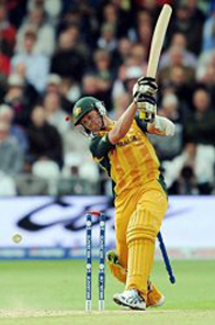 Australia's Brett Lee is bowled out Source: AFP