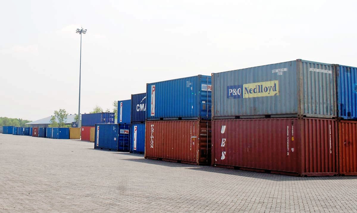 FILE - Containers stranded at the dry port in Birgunj due to an indifinite strike . Courtesy: Ram Sarraf