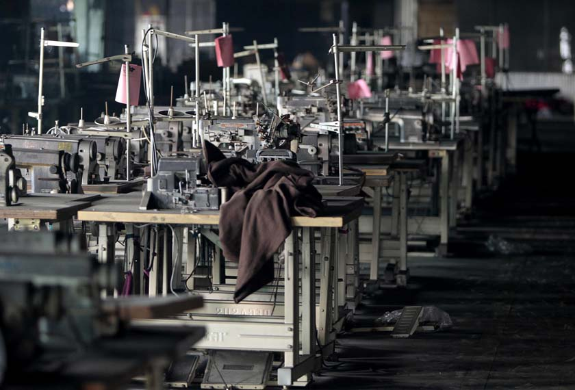 File- In this Friday, Dec. 7, 2012 file photo, machinery is seen at the Tazreen garment factory that caught fire on Nov. 24 killing more than 100 people, in Savar, on the outskirts of Dhaka, Bangladesh. Photo: AP