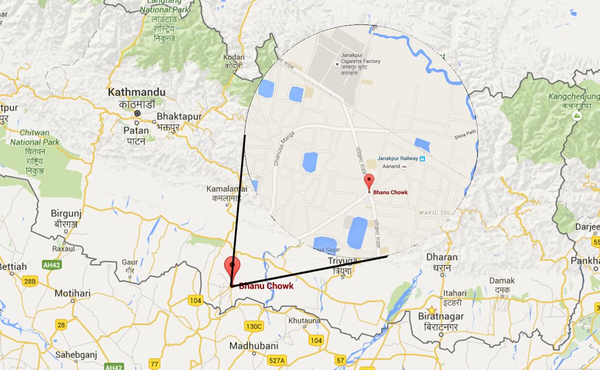 Janakpur. Source: Google Maps