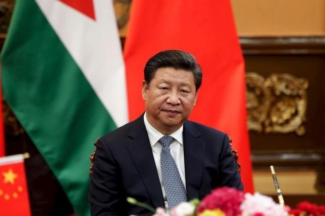 China's President Xi Jinping attends a signing ceremony with King of Jordan Abdullah II (not pictured) at The Great Hall Of The People in Beijing, China, September 9, 2015 REUTERS/Lintao Zhang/Pool