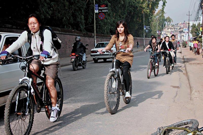Cycling Kathmandu