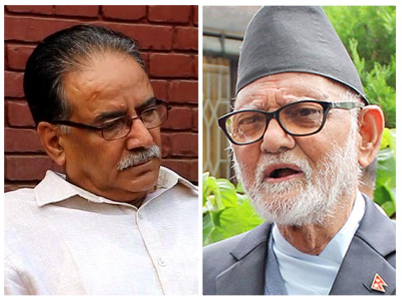 UCPN-Maoist Chairman Pushpa Kamal Dahal (left) and Nepali Congress President Sushil Koirala. Photol: THT/Files