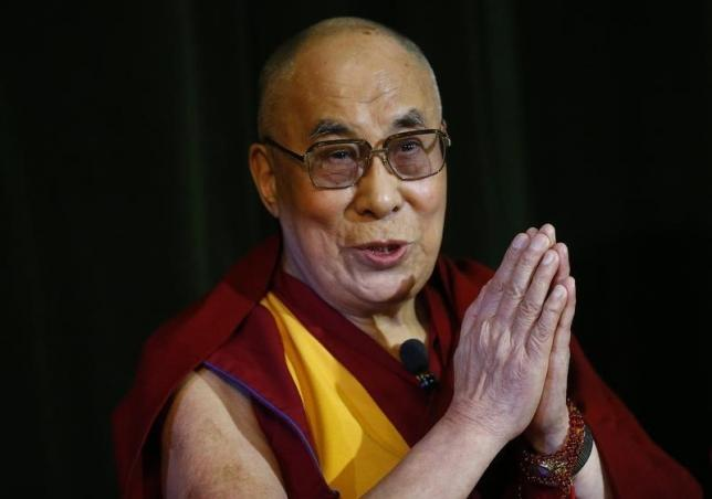 Tibetan spiritual leader, the Dalai Lama speaks during a news conference at Magdalene College in Oxford, Britain September 14, 2015.