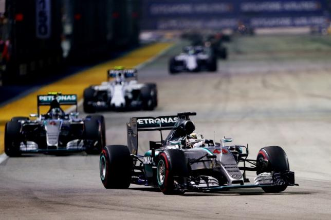 Mercedes' Lewis Hamilton in action during the race. Photo: Action Images / Hoch Zwein