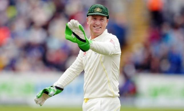 Australia's Brad Haddin reacts after dropping a catch from England's Joe Root. Photo: REUTERS
