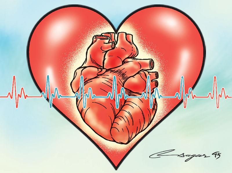 World Heart Day. Illustration: Ratna Sagar Shrestha/THT