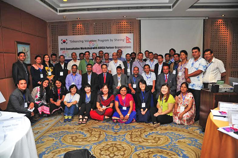 Participants of a workshop on KOICA Volunteers Programme (KOV) conducted by Korea International Cooperation Agency in Kathmandu, on Thursday, September 25, 2015. Photo Courtesy:  KOICA