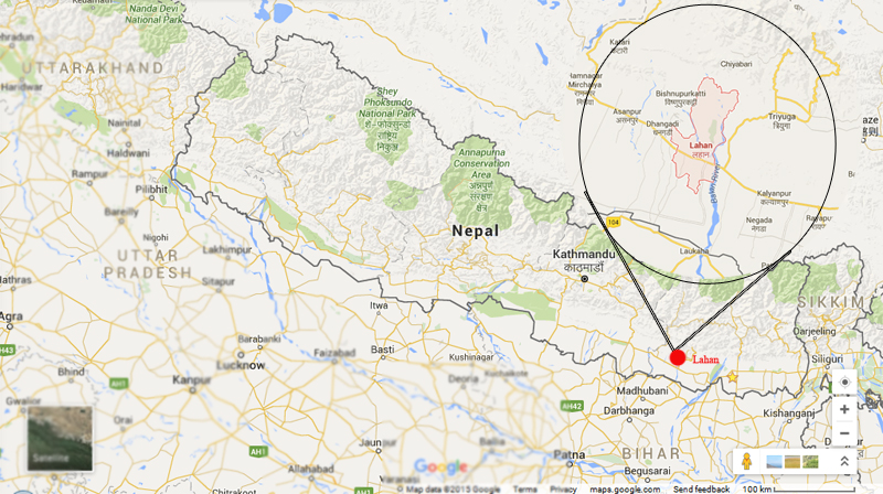 Lahan of Siraha. Photo: Google map