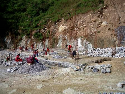 Building construction at will without artictural design approval in Badimalika -10, Martadi in Bajura District. Photo: Parkash Singh