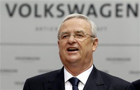 FILE - In this March 12, 2012 file picture Volkswagen CEO Martin Winterkorn talks to the media prior to the company's annual press conference in Wolfsburg, Germany. AP