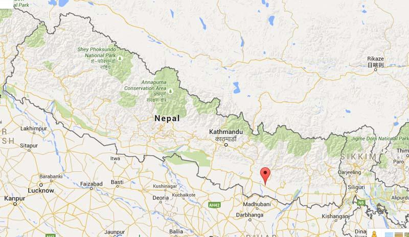 Siraha district. Source: Google Maps