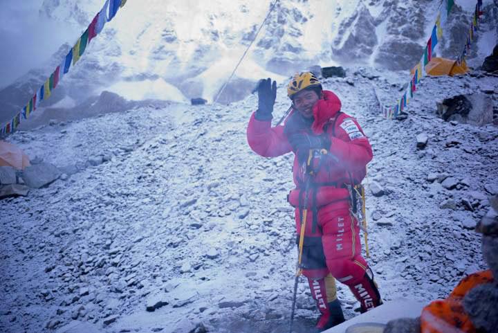 Nobukazu Kuriki on Mount Everest.