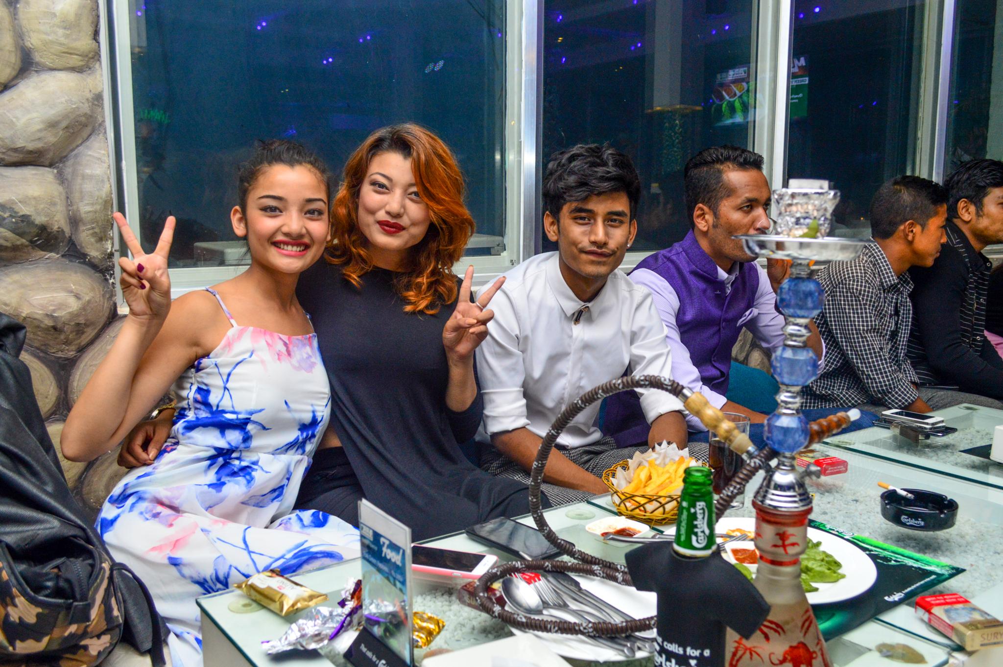 Sharon Shrestha with friends