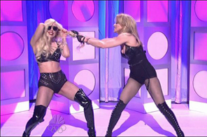 Lady Gaga and Madonna in SNL  Source: Agencies