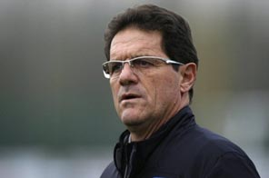 England manager Fabio Capello attends a training session in 2009. Capello's England squad will travel to Austria for a training camp at altitude prior to the 2010 World Cup in South Africa, the camp's organiser said Tuesday. Source: AFP