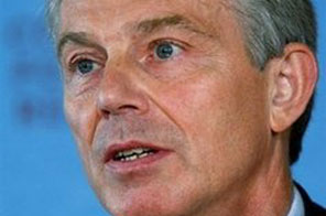 Prime Minister Gordon Brown has asked two of his most senior advisers to lobby discreetly in Europe to help secure ex-premier Tony Blair, seen here, the EU presidency, according to a report Tuesday. Source: AFP