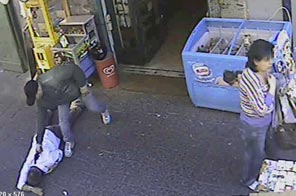Italian police released CCTV footage of Mariano Bacioterracino's murder.  Source: Italian State Police/AFP/Getty Images
