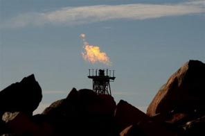 A gas flare at a gas facility in the north of Western Australia.  Source: AFP