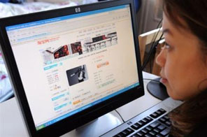 China too has experienced a jump in online retail activity Source: AFP