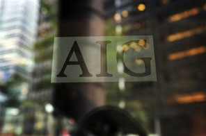 FILE - In this Sept. 16, 2008 file photo, The American International Group logo is shown in New York. The Obama administration's pay czar has asked American International Group to withhold some of the millions in bonuses promised to its employees. Kenneth Feinberg, the special master for executive compensation, 'has informally advised AIG not to pay the full 8 million' employees expect to receive, according to a report Tuesday Oct. 13, 2009 from the special inspector general overseeing the 0 billion financial bailout. Source: AFP