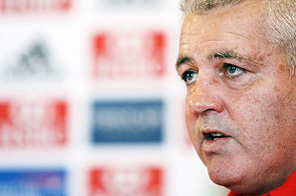 British Lions' forwards coach Warren Gatland on Friday. Source: Paul Thomas/AP