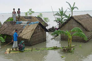 One of the most severe flooding occurred in 2004 in Banglades taking about 1000 lives.  Source: Agencies