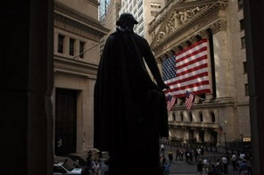View of Wall Street in New York. A year ago, the financial system appeared to be on the brink of a meltdown and the future of American-style capitalism in doubt. Source: AFP