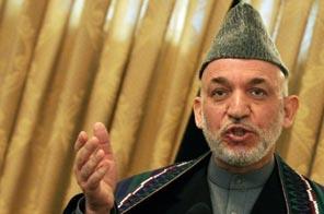 Afghan President Hamid Karzai, seen here in December, 2009.  Source: AFP