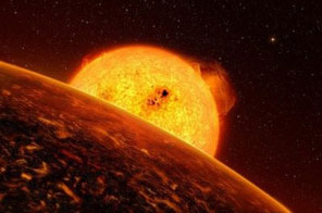 Artist impression released by ESO in 2009 shows the smallest and fastest-orbiting exoplanet known, CoRoT-7b (foreground), around a star named as CoRoT-7. US astronomers have detected the second smallest exoplanet ever discovered with a mass just four times heavier than the Earth, adding to a growing number of low-mass planets dubbed