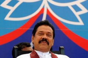 Sri Lankan President Mahinda Rajapaksa during a rally in Jaffna on April 1. Rajapakse, accused by critics of stifling dissent and persecuting the opposition, looks set to consolidate his hold on power in parliamentary elections this week. Source: AFP