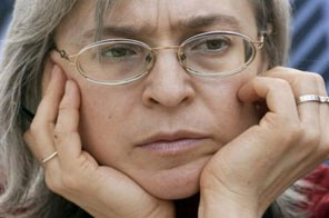 Russian journalist Anna Politkovskaya at a 2005 book fair in Leipzig, Germany. Russia's supreme court has annulled innocent verdicts handed in February to all suspects in the trial in the murder of the investigative journalist. Source: AFP