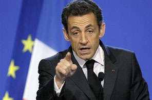 French President Nicolas Sarkozy, pictured, warned Tuesday of an extremist backlash if Middle East peace talks do not commence soon, as he headed to Riyadh for a one-day stay with Saudi King Abdullah. Source: AFP