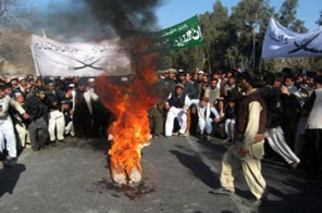 Afghan students hold an anti-US demonstration to protest against civilian deaths Source: AFP