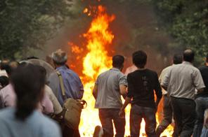 Iran protest Source: Agencies