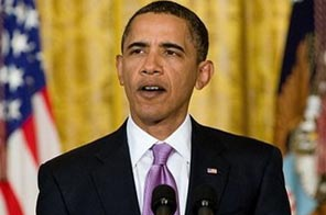 US President Barack Obama speaks in the East Room of the White House. US fans of the show 'Lost' can breathe a sigh of relief Friday after the White House pledged a key speech by President Barack Obama won't displace the premiere episode of the show's final season. Source: AFP