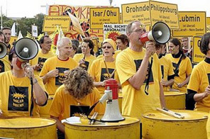 Anti-nuclear demonstrators stage a protest against the government's nuclear power policies in Berlin. The protesters are calling for the shutting down of Germany's nuclear power stations. Source: AFP